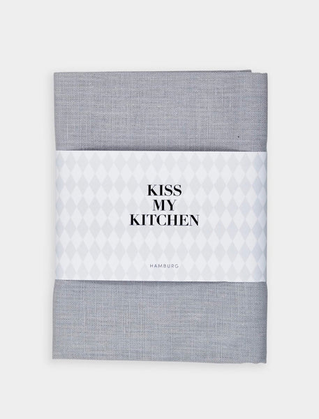 "kiss my kitchen Geschirrtuch ""UNI grey"""