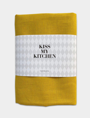 "kiss my kitchen Geschirrtuch ""UNI yellow"""