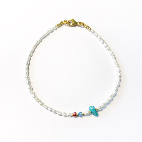 "LIMITIERT!! Armband ""LITTLE PEARL TURQUOISE"""