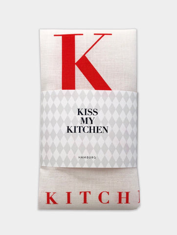 "✨NEU!! kiss my kitchen ""Küchen-Handtuch"" white/red"