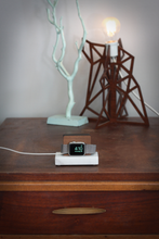 Load image into Gallery viewer, Apple Watch Stand - Black Marble and White Oak Wood Charging & Docking Station