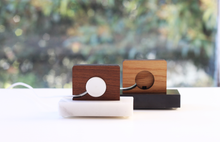 Load image into Gallery viewer, Apple Watch Stand - Black Marble and Walnut Wood Charging & Docking Station
