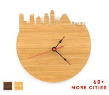Load image into Gallery viewer, Austin Skyline Time Zone Clock - Cityscape Art Clock - Long Distance Relationship Gift