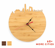 Load image into Gallery viewer, Beijing Skyline Time Zone Clock - Beijing Cityscape Art Clock - Long Distance Relationship Gift