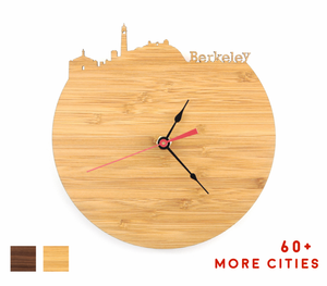 Berkeley Skyline Time Zone Clock - Cityscape Art Clock - Long Distance Relationship Gift