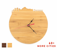 Load image into Gallery viewer, Denver Skyline Time Zone Clock - Cityscape Art Clock - Long Distance Relationship Gift