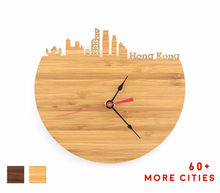 Load image into Gallery viewer, Hong Kong Skyline Time Zone Clock - Cityscape Art Clock - Long Distance Relationship Gift