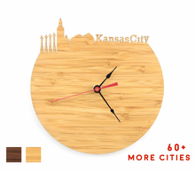Load image into Gallery viewer, Kansas City Skyline Time Zone Clock - Cityscape Art Clock - Long Distance Relationship Gift