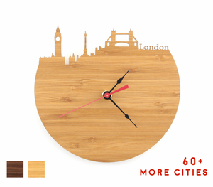 London Skyline Time Zone Clock - Big Ben Clock - Cityscape Long Distance Relationship Gift