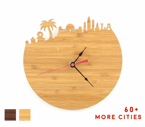 Los Angeles Skyline Time Zone Clock - Cityscape Art Clock - Long Distance Relationship Gift