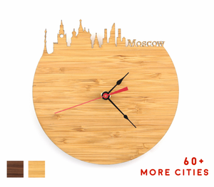 Moscow Skyline Time Zone Clock - Cityscape Art Clock - Long Distance Relationship Gift