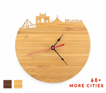 Load image into Gallery viewer, Mumbai Skyline Time Zone Clock - Cityscape Art Clock - Long Distance Relationship Gift
