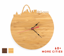 Load image into Gallery viewer, St Louis Skyline Time Zone Clock - Cityscape Art Clock - Long Distance Relationship Gift