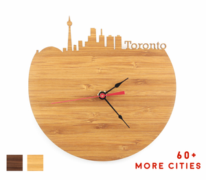 Toronto Skyline Time Zone Clock - Cityscape Art Clock - Long Distance Relationship Gift