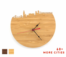 Load image into Gallery viewer, Vancouver Skyline Time Zone Clock - Cityscape Art Clock - Long Distance Relationship Gift