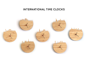 Brooklyn Skyline Time Zone Clock - Cityscape Art Clock - Long Distance Relationship Gift