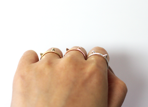 Cat Ring in Rose Gold - Minimalist Dainty Cat Ears Ring - Great Cat Lover Gift