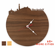 Load image into Gallery viewer, Berkeley Skyline Time Zone Clock - Cityscape Art Clock - Long Distance Relationship Gift