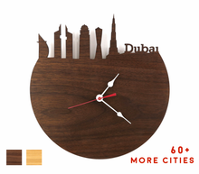 Load image into Gallery viewer, Dubai Skyline Time Zone Clock - Cityscape Art Clock - Long Distance Relationship Gift
