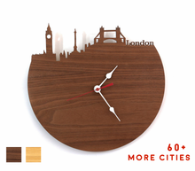Load image into Gallery viewer, London Skyline Time Zone Clock - Big Ben Clock - Cityscape Long Distance Relationship Gift