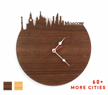 Load image into Gallery viewer, Moscow Skyline Time Zone Clock - Cityscape Art Clock - Long Distance Relationship Gift