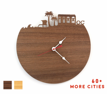 Load image into Gallery viewer, Orange County Skyline Time Zone Clock - Cityscape Art Clock - Long Distance Relationship Gift