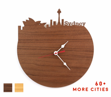 Load image into Gallery viewer, Sydney Skyline Time Zone Clock - Cityscape Art Clock - Long Distance Relationship Gift
