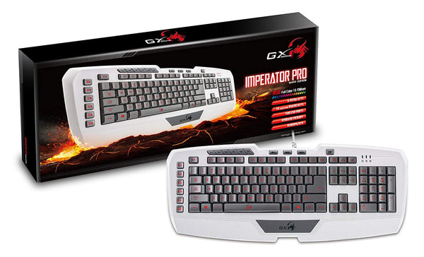 GX-Gaming Imperator Pro Gaming Keyboard - Full-speed professional MMORPG/RTS (WHITE)