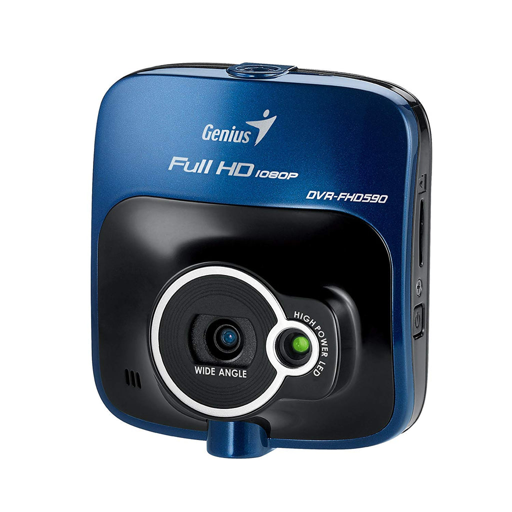 Genius DVR-FHD590 Full HD Dash Cam with 128-Degree Wide angle and G-Sensor