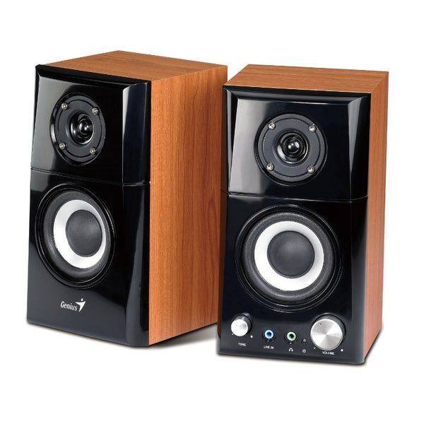 Genius SP-HF500A Hi-Fi Wood Speakers for PC, MP3 players, and Tablets | WIRED SPEAKER