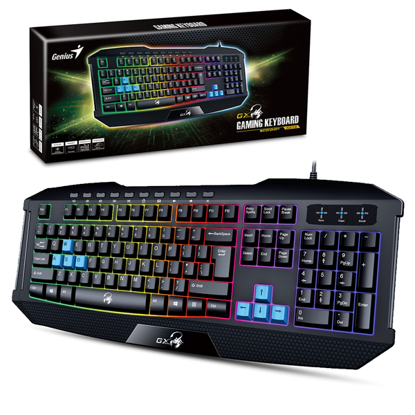 Genius Scorpion K215 Gaming Keyboard w/ Backlight & Multimedia Keys (Spanish)