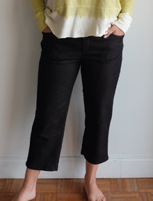 Wilt Crop Boy Trousers in Black