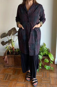 Rundholz Merlot Check Coat