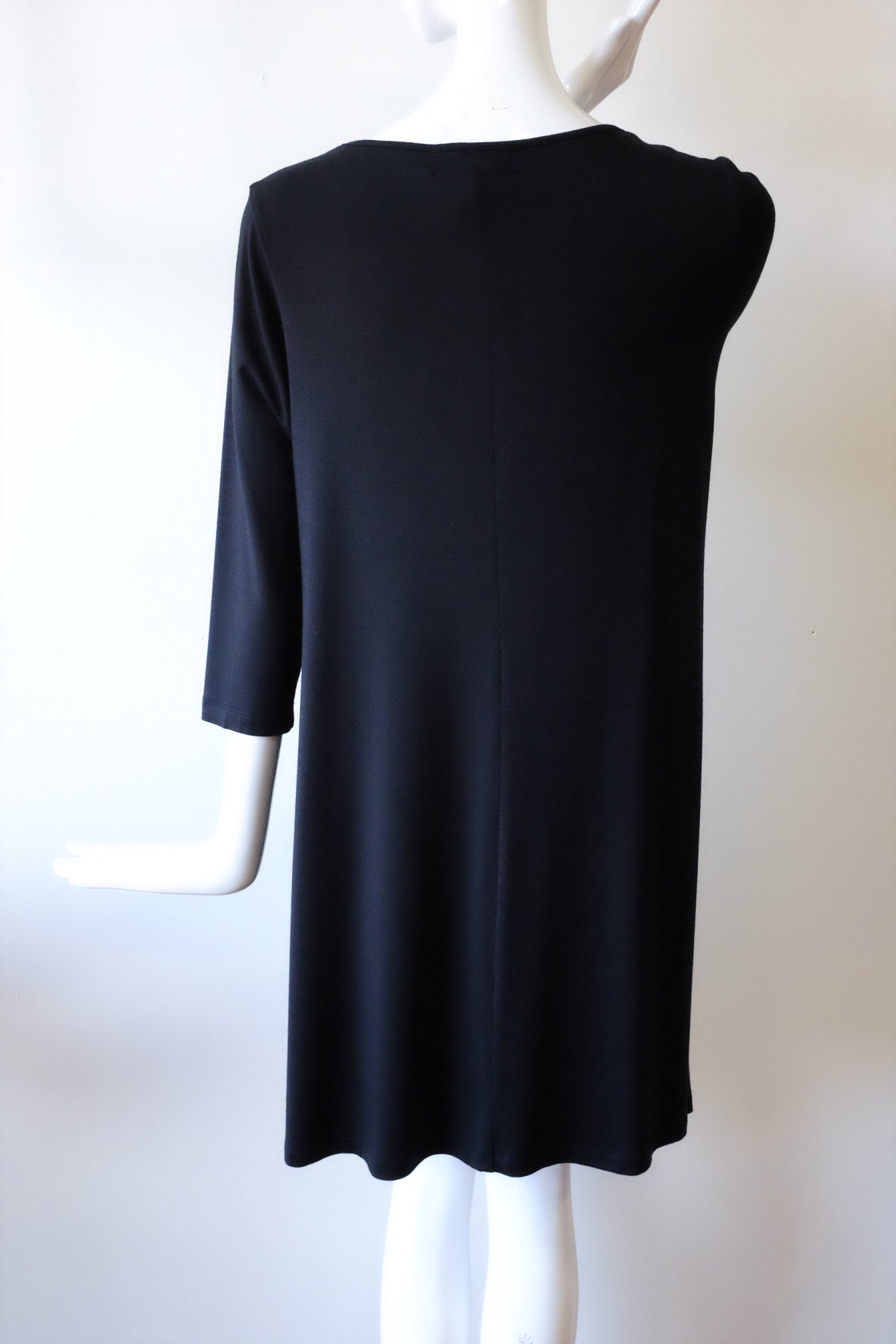Comfy Black 3/4 Sleeve Tunic