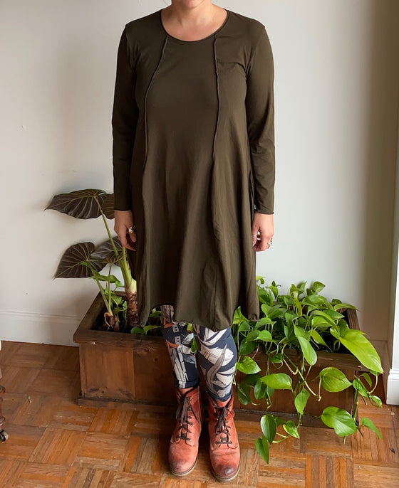 Grizas Knit Tunic in Black Olive