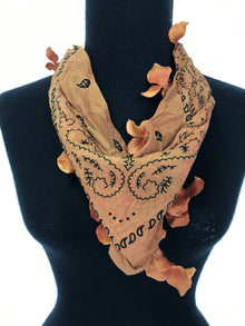 Petrushka Burnt Orange Bandana with Petals