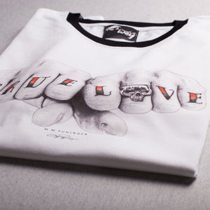 Camiseta blanca TRUE LOVE
