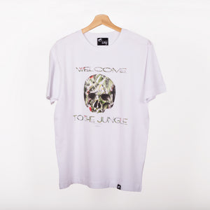 Camiseta blanca WELCOME TO THE JUNGLE