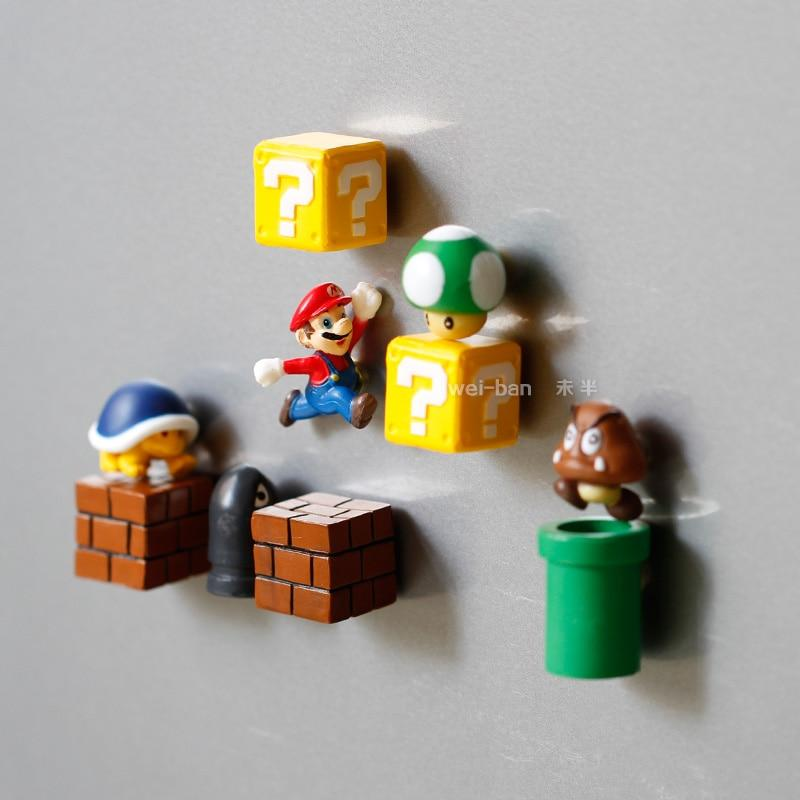 10pcs Super Mario Bros. Refrigerator Magnets - nintendo-core