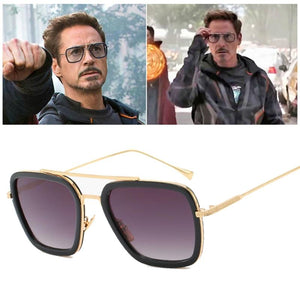 Avengers Tony Stark Flight Luxury Mens Sunglasses | Oculos Retro - nintendo-core