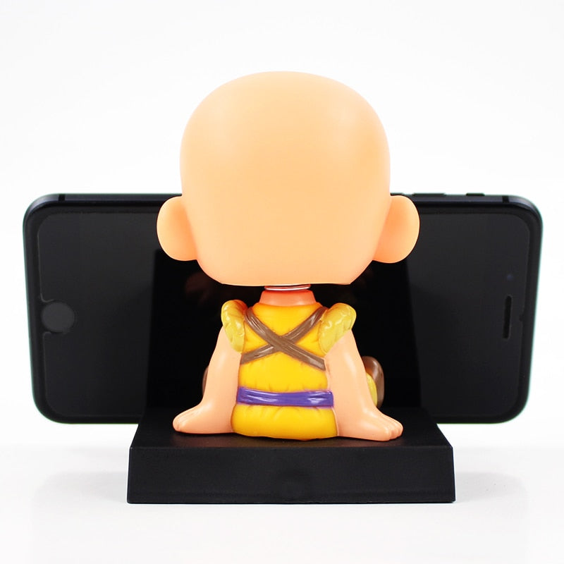 Chibi Goku and Krillin matching Bookend and Phone Stand Figurines