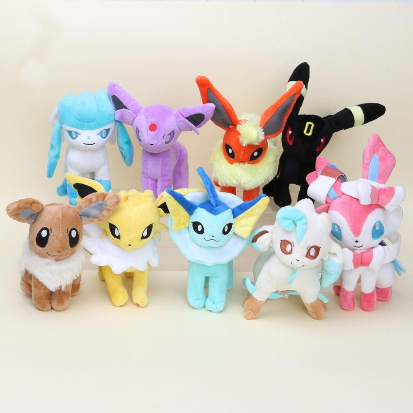 Large Eevee Evolution Plushie Hugables - nintendo-core