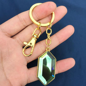 Legend of Zelda Green Rupee Keychain - nintendo-core