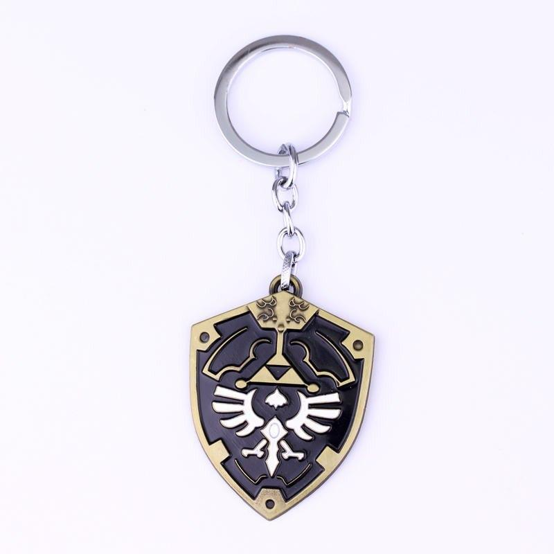 Legend of Zelda Metal Alloy Shield Keychain - nintendo-core
