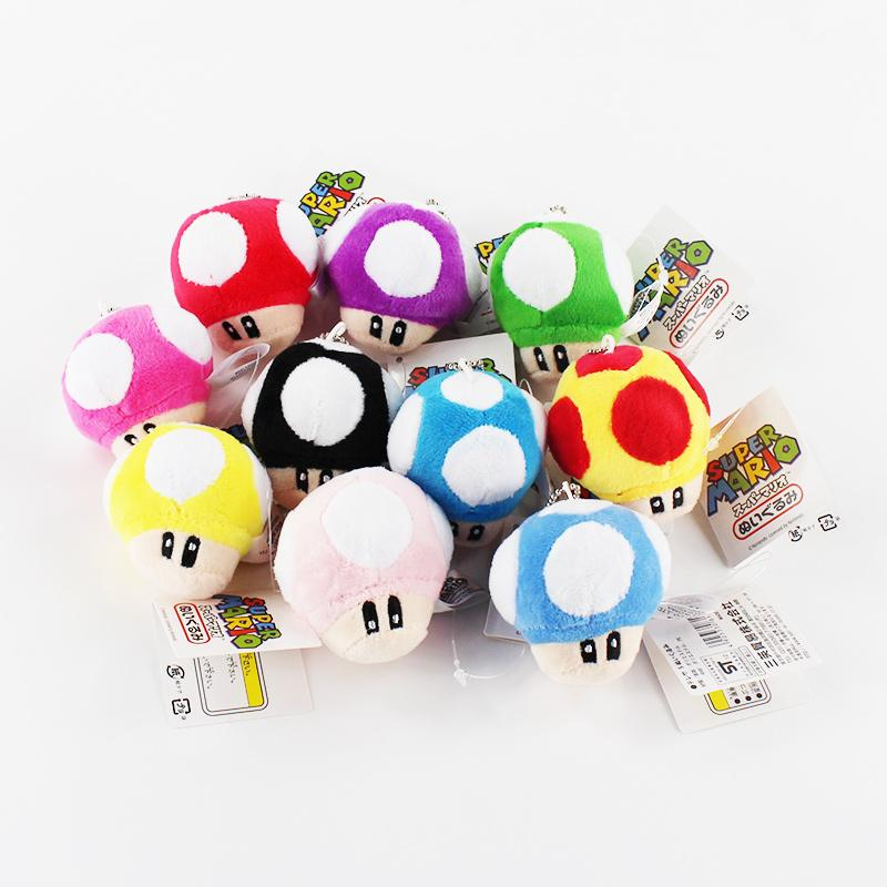 Luigi's Secret Stash | New Super Mario Bros Mushroom Plush Keychains - nintendo-core