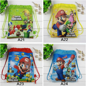 Over Stocked Mario Drawstring BackPacks! (12 Pack bulk buy) - nintendo-core