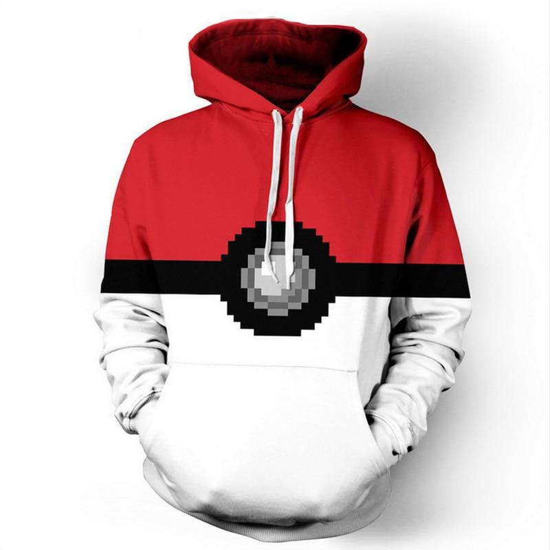 Pokeball Hooded Sweatshirt - nintendo-core