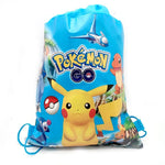 Pokemon  Pikachu Themed Blue Drawstring Backpack - nintendo-core