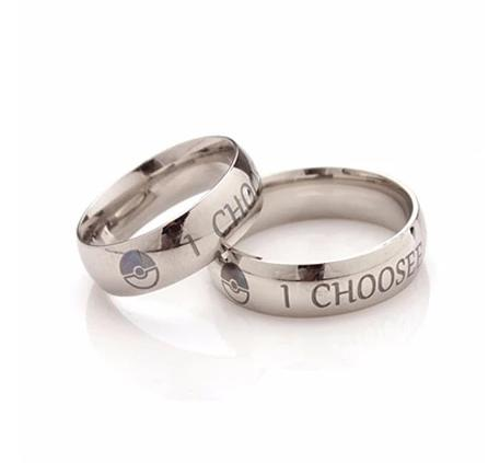"Pokemon ""I Choose You Ring"" Couples Stainless Steel Rings - nintendo-core"