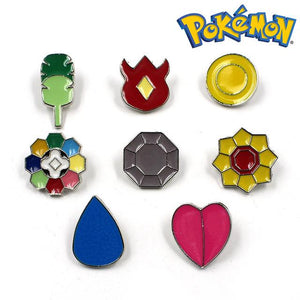 Pokemon League Gym Badge Brooches (Crrool Stream Special) - nintendo-core